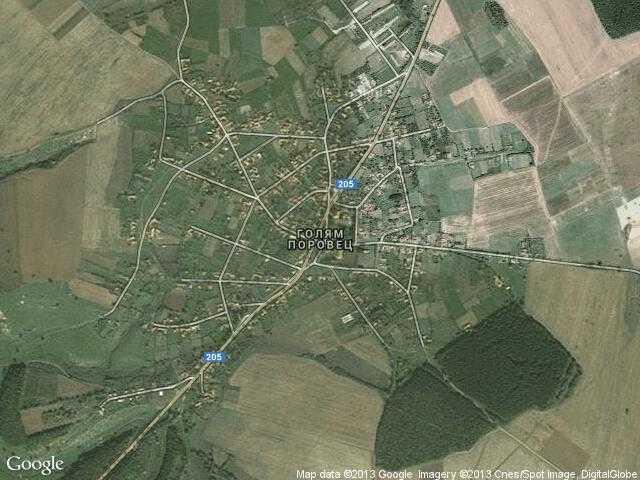 Сателитна карта на Голям Поровец