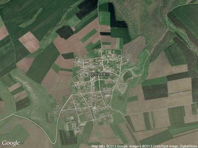 Сателитна карта на Делчево