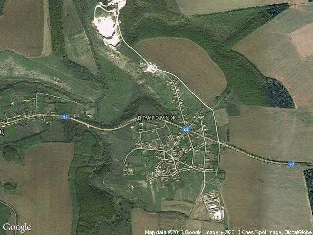 Сателитна карта на Драгомъж