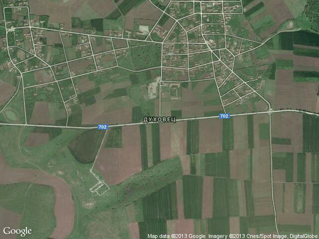 Сателитна карта на Духовец