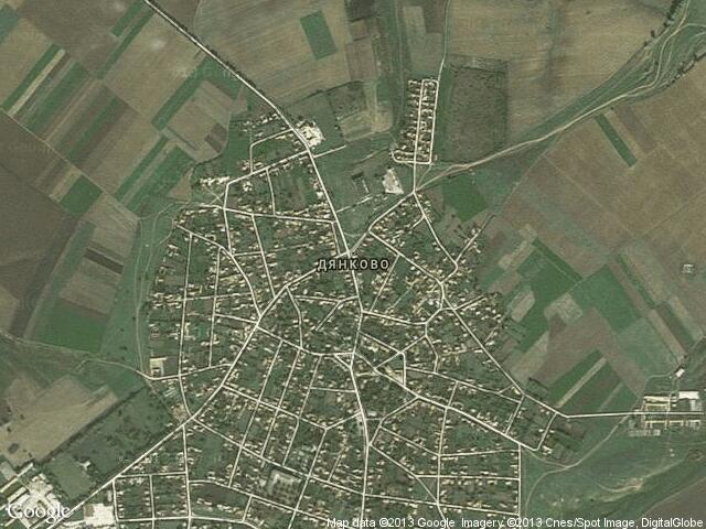 Сателитна карта на Дянково