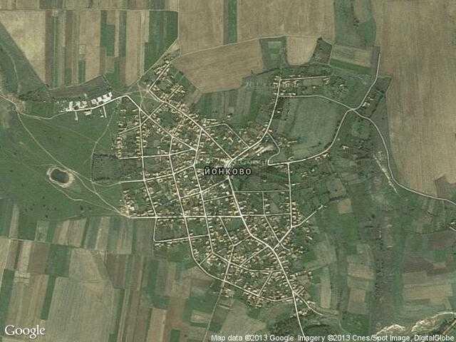 Сателитна карта на Йонково