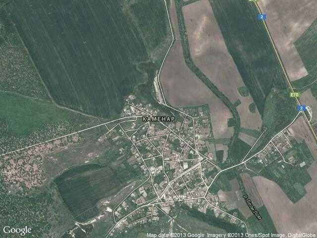 Сателитна карта на Каменар