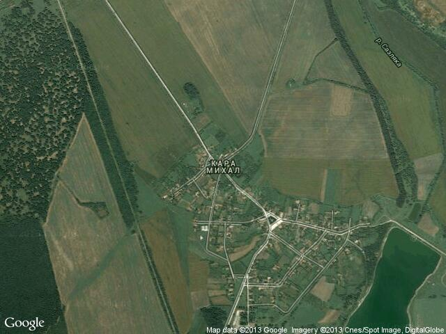 Сателитна карта на Кара Михал