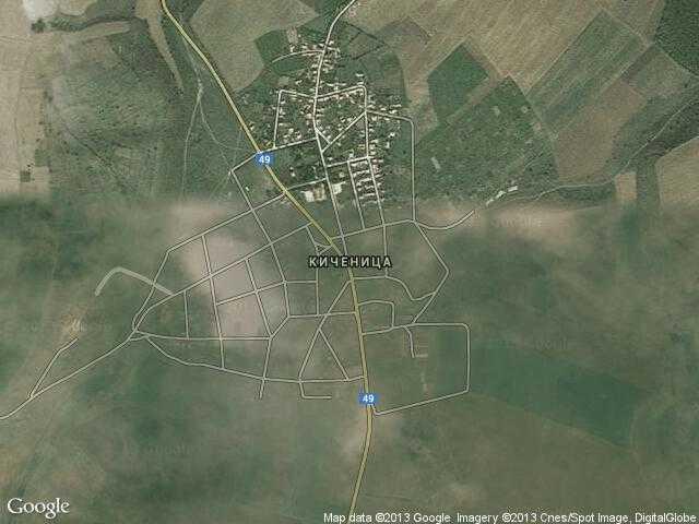 Сателитна карта на Киченица