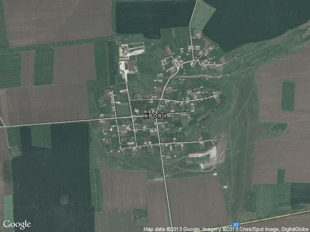 Сателитна карта на Крояч