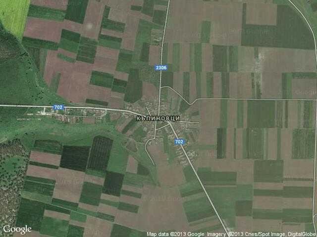 Сателитна карта на Къпиновци