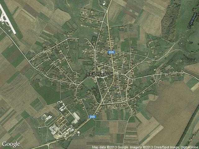 Сателитна карта на Лудогорци