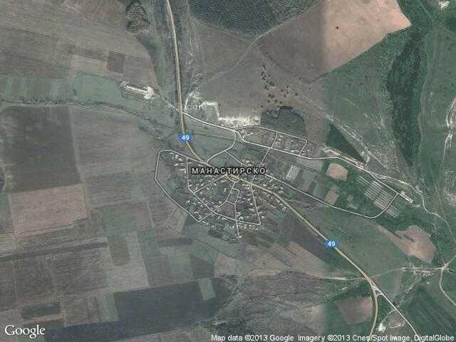 Сателитна карта на Манастирско
