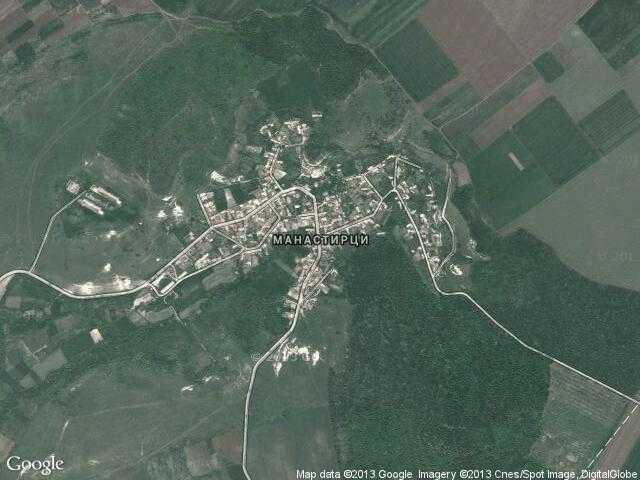Сателитна карта на Манастирци