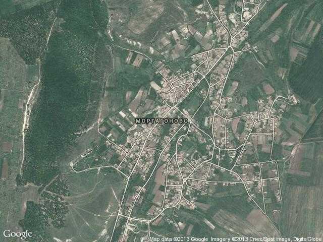 Сателитна карта на Мортагоново