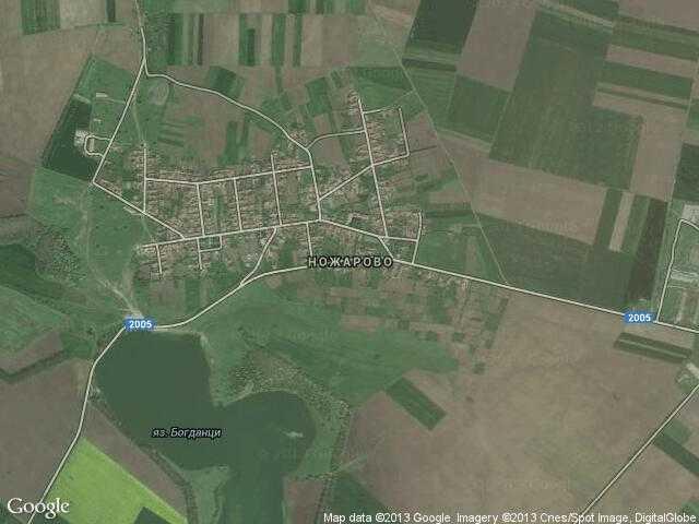 Сателитна карта на Ножарово