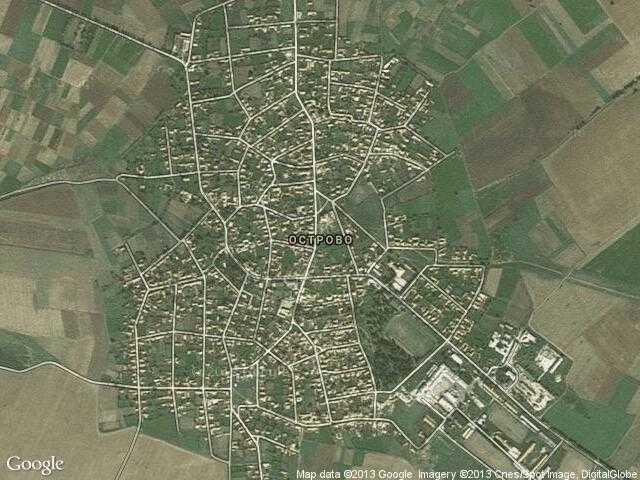 Сателитна карта на Острово