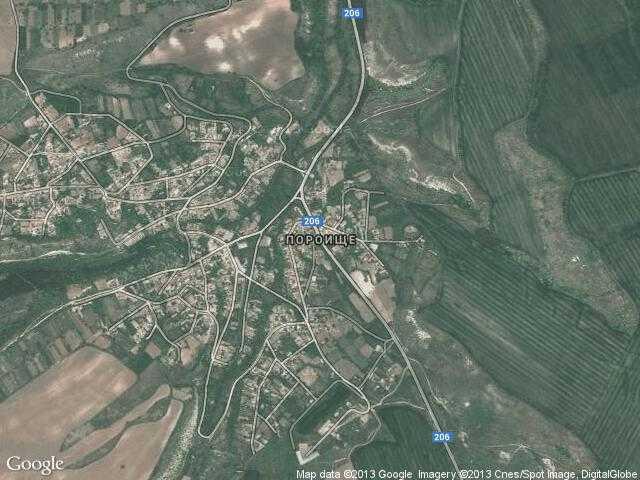 Сателитна карта на Пороище