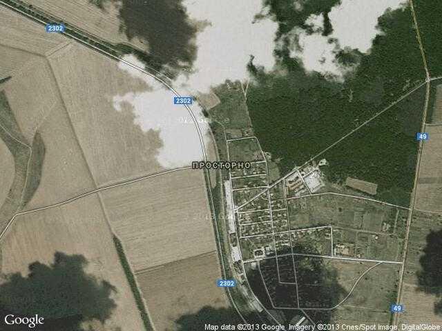 Сателитна карта на Просторно