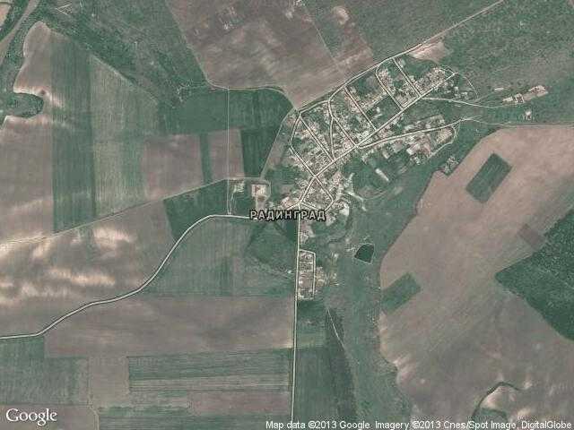 Сателитна карта на Радинград