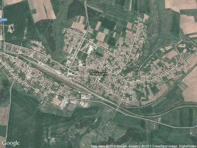 Сателитна карта на Самуил