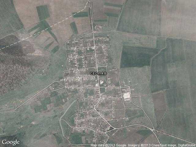 Сателитна карта на Сеслав