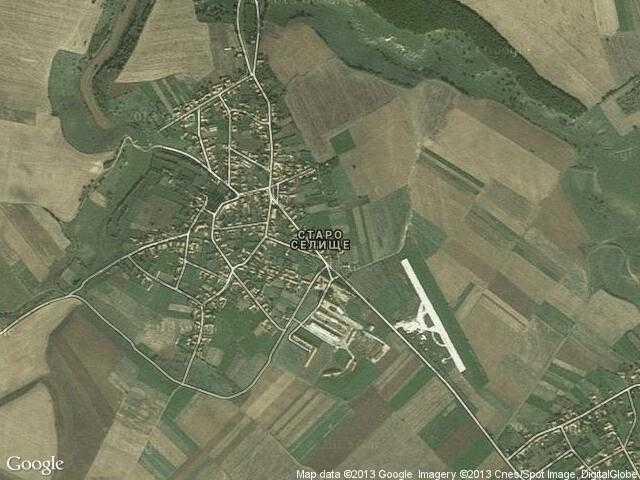 Сателитна карта на Старо селище