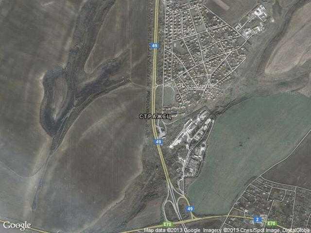 Сателитна карта на Стражец