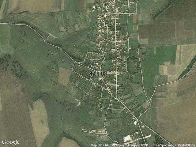 Сателитна карта на Сушево