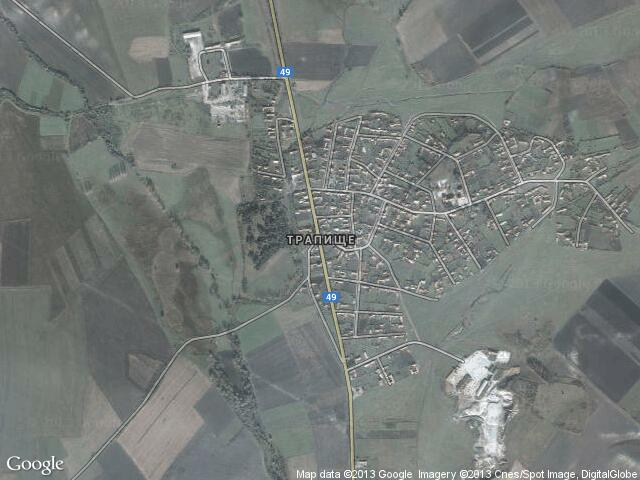 Сателитна карта на Трапище