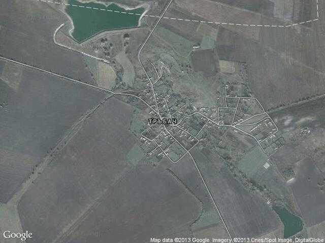 Сателитна карта на Тръбач