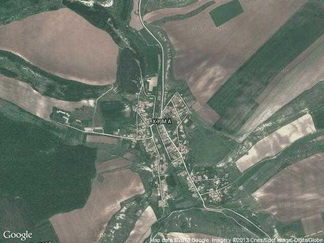 Сателитна карта на Хума