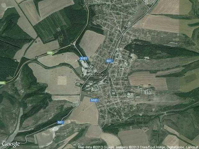 Сателитна карта на Борово
