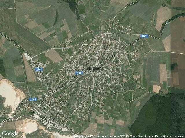 Сателитна карта на Ветово