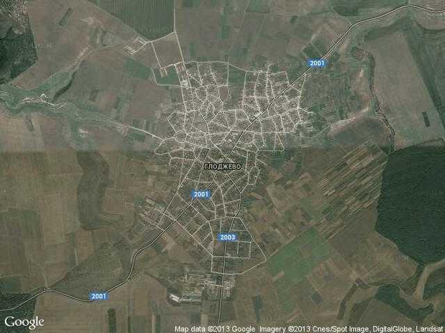 Сателитна карта на Глоджево