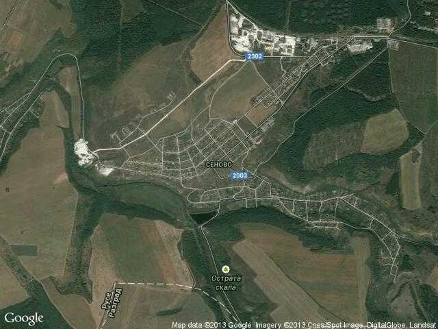 Сателитна карта на Сеново
