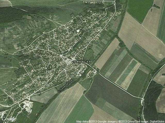 Сателитна карта на Баниска