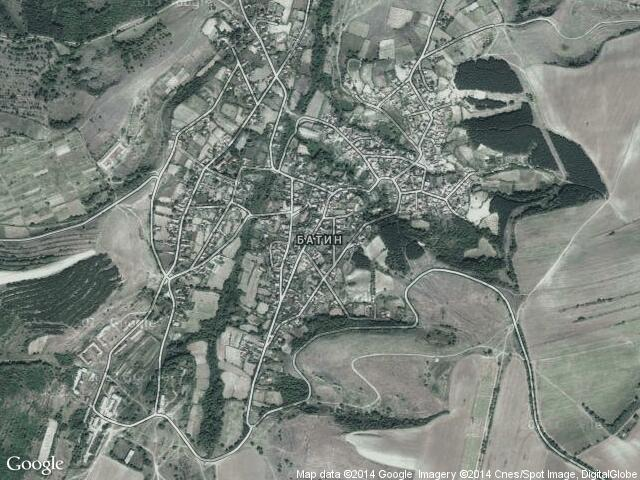 Сателитна карта на Батин