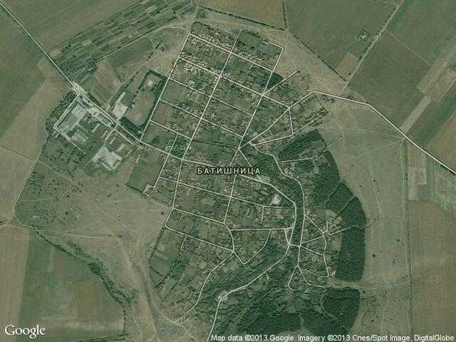 Сателитна карта на Батишница