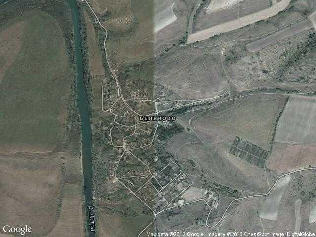 Сателитна карта на Беляново