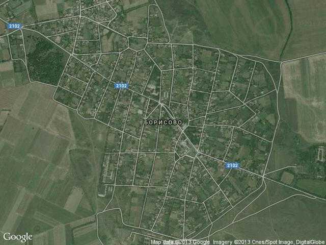 Сателитна карта на Борисово