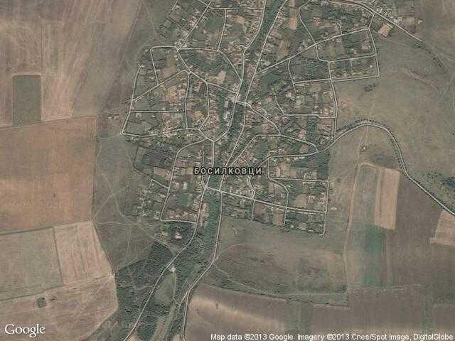 Сателитна карта на Босилковци