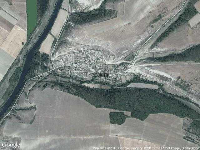 Сателитна карта на Ботров