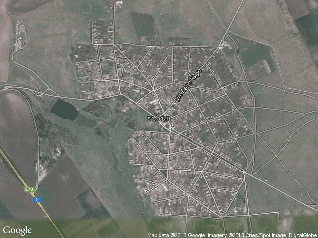 Сателитна карта на Бъзън