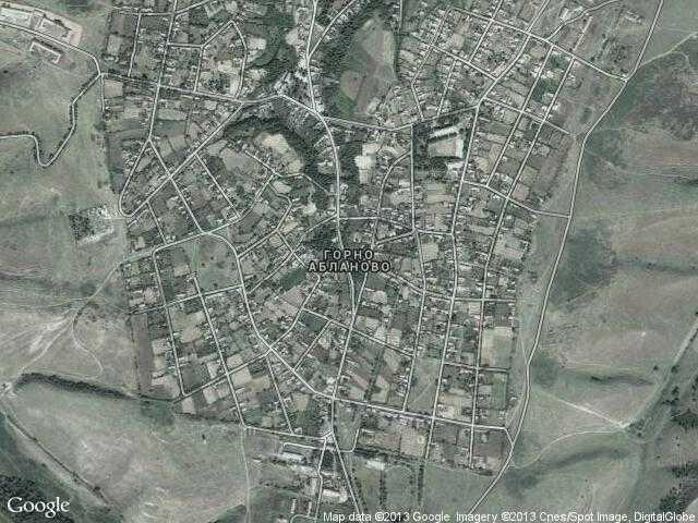 Сателитна карта на Горно Абланово