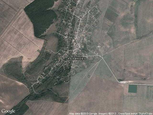 Сателитна карта на Долно Абланово