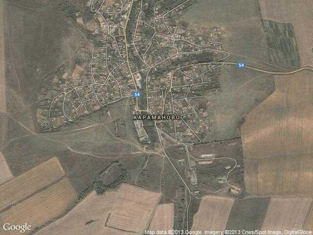 Сателитна карта на Караманово