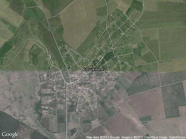 Сателитна карта на Кошарна