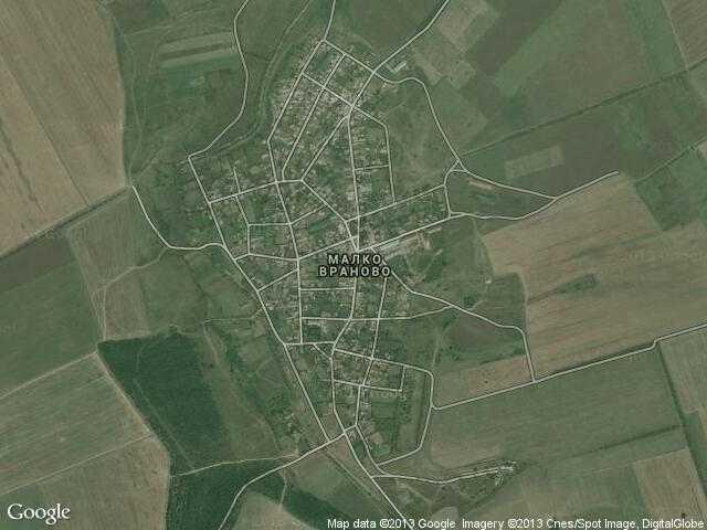 Сателитна карта на Малко Враново