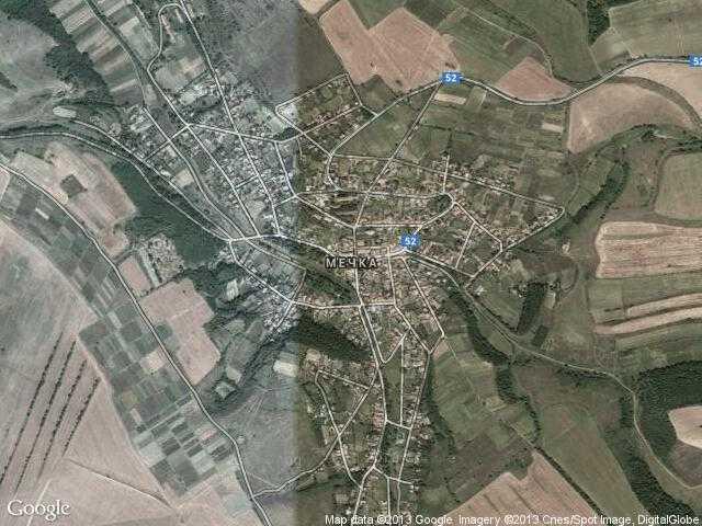 Сателитна карта на Мечка