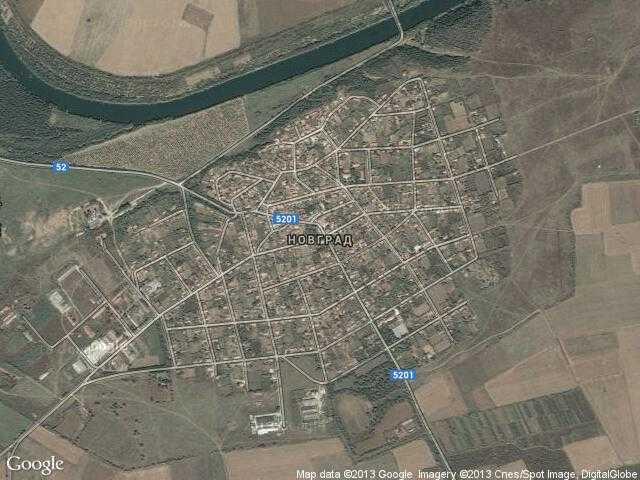 Сателитна карта на Новград