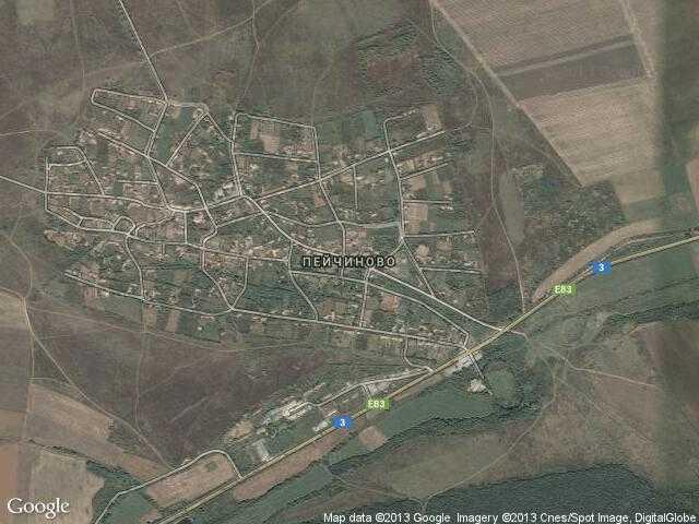 Сателитна карта на Пейчиново