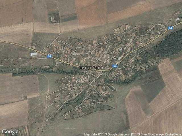 Сателитна карта на Пиперково