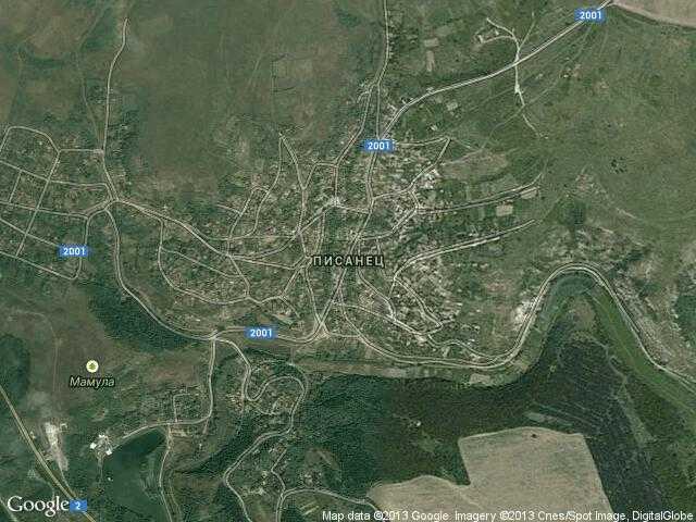Сателитна карта на Писанец